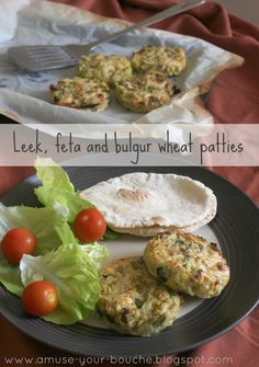 Leek, feta and bulgur wheat patties - Amuse Your Bouche