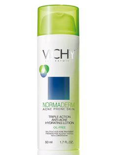 Vichy NormaDerm Triple Action Anti-Acne Hydrating Lotion (Hey, it's worth a try...) $19.99