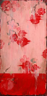 Kathe Fraga paintings on frescoed canvas, inspired by vintage Paris and Chinoiserie ancienne. www.kathefraga.com
