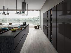Modern Luxury Kitchens For A Grand Kitchen Luxury Kitchen Design, Contemporary Kitchen Design, Luxury Kitchens, Open Plan Kitchen Living Room, Hidden Kitchen, Hallway Designs, Kitchen Models, Kitchen Collection, Minimalist Kitchen