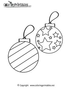 Christmas Ornaments Coloring Page – A Free Holiday Coloring Printable