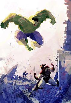 Wolverine vs Hulk by Campion