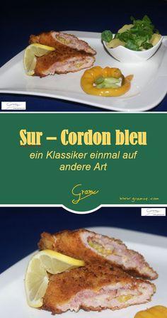 Sur - Cordon bleu einmal komplett anders - schmeckt herzhaft und pikant! #Surschnitzel #Schnitzel #cordonbleu #Kartoffelsalat Cordon Bleu, Easy Cooking, Beef, Food, Cords, Meat, Potato Salad, Easy Meals, Meals