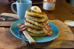 Akis bacon pancakes recipe. Wonderfully delicious and quick bacon pancakes for breakfast, brunch or a tasty snack.
