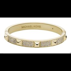 NWOT Michael Kors Heritage Glitz Studded Bangle New without tags! Limited edition! Michael Kors Jewelry Bracelets