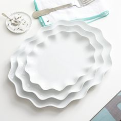 Mallorca Oval Platters: The white is a perfect display for colorful food and I love the ruffle, because it adds a little extra pizzaz!