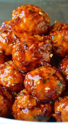 Baked Orange Chicken Meatballs: Delicious appetizer!