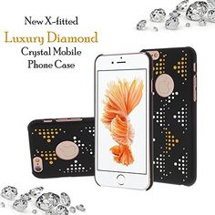X-FITTED Apple iPhone Hard Plastic Back Cover, Beyond Luxury Color Crystal Rhinestone Decoration Bling iPhone Case (Black) with Diamond Ultrasonic Embedded Craft and Anti-fingerprint Technics, Compatible for Apple iPhone Apple Iphone 6s Cover, Iphone Case Covers, Latest Electronic Gadgets, Crystal Mobile, Mobile Covers, Amazon Mobile, Mobile Phone Cases, Crystal Rhinestone, Online Mobile