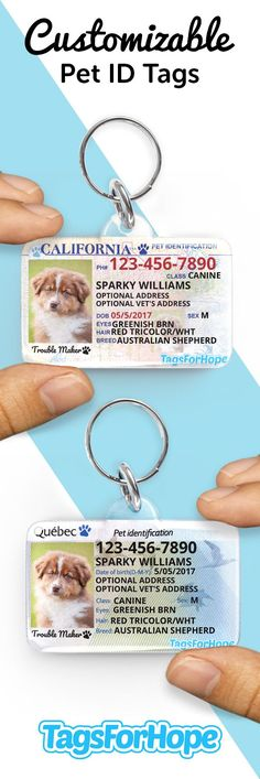 Keep Your Pets Safe. Every tag purchased provides an animal in need with food, treatment and shelter. Unlike other tags on the market, this tag is built to last. The information inside will not fade or wear out. The tags are waterproof, mud-proof, snow, and freeze-proof and can easily withstand extreme rough playing. Get your Dog or Pet Tag today!