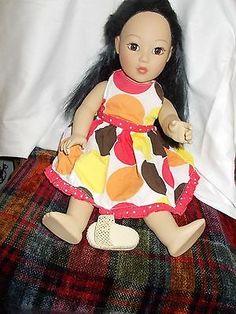 Madame-Alexander-18-in-Asian-doll-Black-hair-Brown-eyes