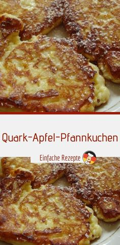 Quark and apple pancakes Sprainnews food ideen ideas food food food Desserts Français, French Desserts, Healthy Desserts, Smoothie Recipes, Snack Recipes, Potato Pancakes, Ground Turkey Recipes, Pumpkin Spice Cupcakes, Snacks