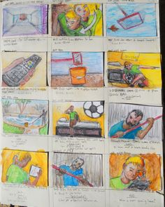 Page 3 of Trollie storyboards from sketchbook