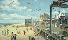 Ocean City boardwalk summer 1915--wow it looked so different! (no condos for one thing!)