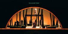 Tristan und Isolde Act 2, Scene 2). Seattle Opera. Scenic design by Alison Chitty. 1998