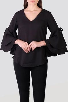 41bd6a8abb64 Ruffle Tops - Buy ruffle tops for women online at best price in India. Shop