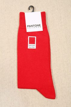 Urban Outfitters - Pantone Red Crew Socks