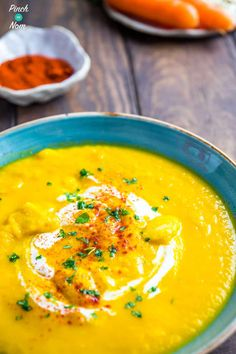 Carrot and Butter Bean Soup - Pinch Of Nom Slimming Recipes Butter Bean Soup, Butter Beans, Soup Recipes, Cooking Recipes, Healthy Recipes, Healthy Foods, Weight Watchers Soup, Spicy Soup