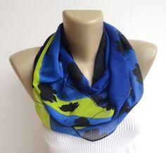 women fashion infinity scarf ivy chiffon fabric by senoAccessory, $18.90