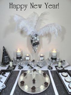 Happy New Year dessert table