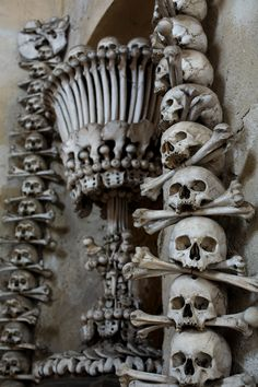 """There's a very famous bone-decorated chapel in Sedlec near Kutna Hora."" 