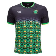 For the club's first Umbro-designed jersey, fans will get the feel of Jamaican life and culture. The Reggae Boyz will sport the new look in the next round of inter. Reggae Boyz, Ronaldo, World Soccer Shop, Soccer Uniforms, Transfer News, Eden Hazard, Adidas Football, Jamaica, Cuba