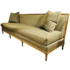 Custom Louis XVI Style Banquette | From a unique collection of antique and modern sofas at http://www.1stdibs.com/furniture/seating/sofas/