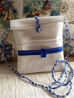 Sail bag hipster cross body purse made of up-cycled by Sailknot