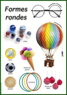 Geometry - round shapes in objects Preschool Kindergarten, Teaching Math, Maths, Art Activities For Kids, Art For Kids, Shape Games, Spirograph, Petite Section, Pre Writing