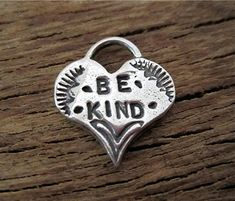 Handmade Sterling Silver Inspirational Heart by VDIJewelryFindings, $6.30
