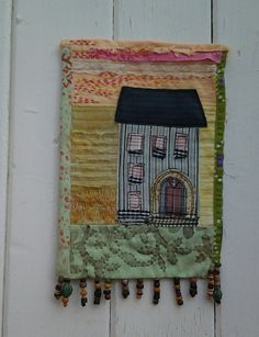 Little house with sunset in a cornfield. small by textilechicken
