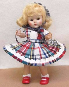~~~LOVELY  1953 VOGUE STRUNG GINNY DOLL MARGIE -- WHAT A CUTIE!!~~~