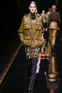 The chic safari leather Balmain of it all.  Balmain Fall 2014 Ready-to-Wear Collection Slideshow on Style.com
