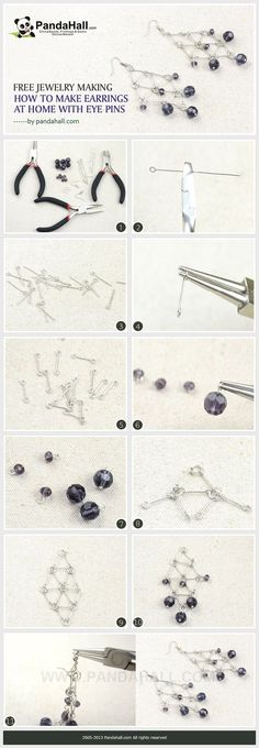 Free Jewelry Making- How to Make Earrings at Home with Eye Pins from pandahall.com (scheduled via http://www.tailwindapp.com?utm_source=pinterest&utm_medium=twpin&utm_content=post87258387&utm_campaign=scheduler_attribution)