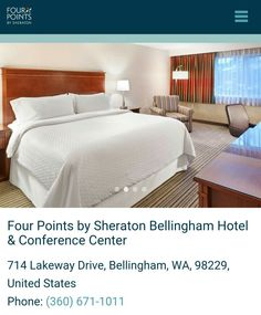 A full service hotel in Bellingham Four Points by Sheraton Bellingham Hotel and Conference Center.