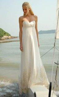 Flowy, simple wedding dress