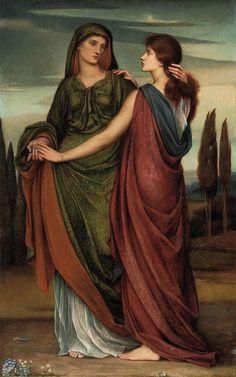 Naomi and Ruth (1887) - Evelyn De Morgan