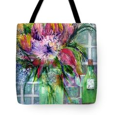 Birthday Flowers Still Life Tote Bag for Sale by Sabina Von Arx