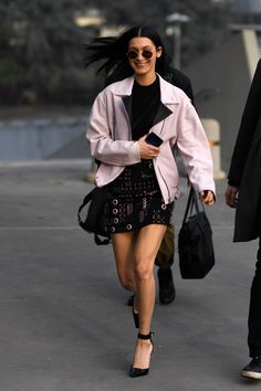 Bella Hadid - Arriving at the Versace Fashion Show in Milan 2/24/17