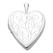 White Gold Engraved Heart Locket P Heart Locket, White Gold, Pendant, Audio Books, Jewelry, Amazing, White People, Jewels, Schmuck
