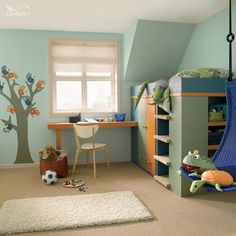 All things green on pinterest green colour and green for Dulux boys bedroom ideas