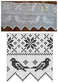 Resultado de imagen para cenefas a crochet con aves