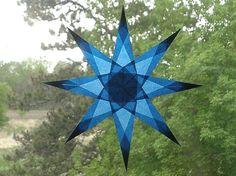Cobalt Blue Window Star with 8 Sharp Points. $9.00, via Etsy.
