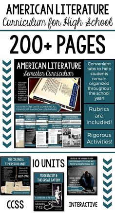Entire Semester of American Literature Activities & Assessments: Student Binder