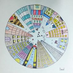 Objective students will create a color wheel using one point one point perspective circle city google search fandeluxe Image collections