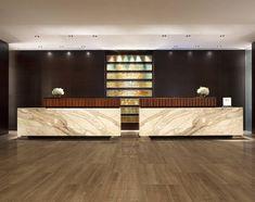 WAN INTERIORS Hotels, HILTON MCCLEAN HOTEL.. Reception desk. @Chris Allen Stone Boston dont u love