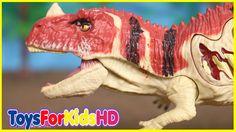 Videos de Dinosaurios para niños  Dinosaurios de Juguete CERATOSAURUS Juguetes de Dinosaurios