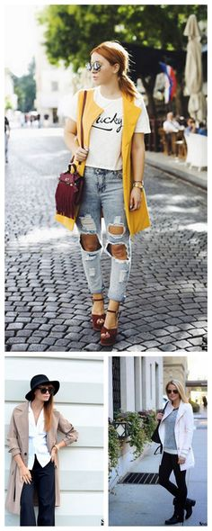 Every kind vest outwear/ Awe Fashion for Fall Street Style. More kinds at shein.com