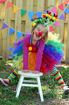 Atutudes Circus Clown Rainbow Pettitutu by atutudes on Etsy, $34.95?.....  What a cute Halloween costume for nikoleta :))