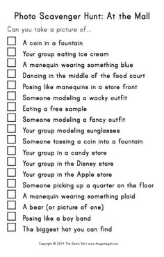 Super Birthday Party Games For Teens Sleepover Mall Scavenger Hunt Ideas 13th Birthday Parties, Birthday Party For Teens, 14th Birthday, Sleepover Party, Teen Birthday, Slumber Parties, Teen Parties, Teen Sleepover, Spa Party