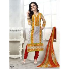 New Designer Party Wear Yellow & Red Salwar Suit-001(FA241-CB Vol 1)